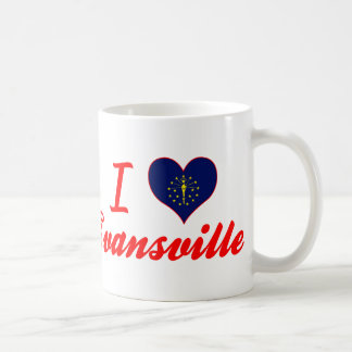 I Love Evansville, Indiana Coffee Mug