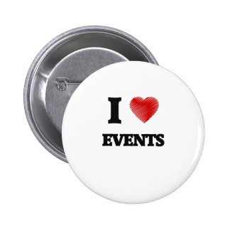 I love Events 2 Inch Round Button