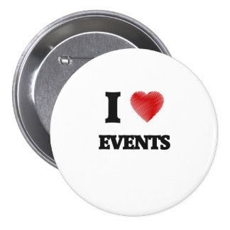 I love Events 3 Inch Round Button