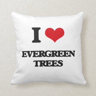 I love EVERGREEN TREES Throw Pillow