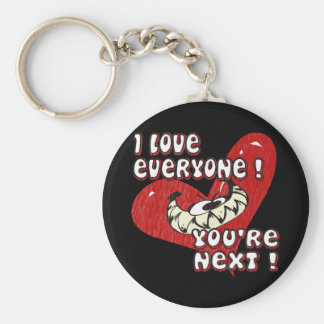 I Love Everyone Basic Round Button Keychain