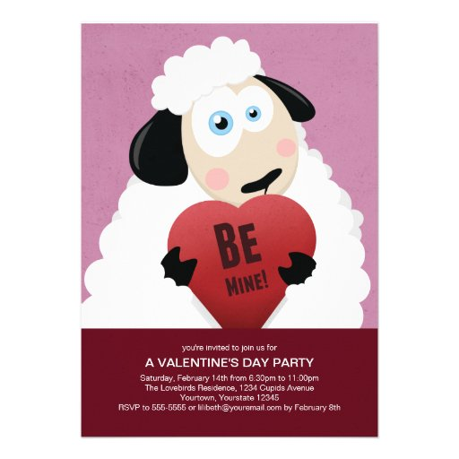 I Love Ewe Be Mine | Valentine's Party Invitation