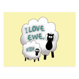 I Love Ewe, Kid! Postcard