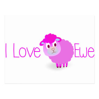 I Love EWE Postcard