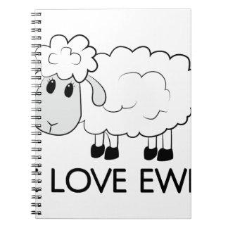 I Love Ewe Spiral Notebook