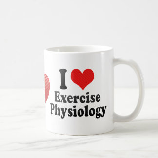 I Love Exercise Physiology Coffee Mug