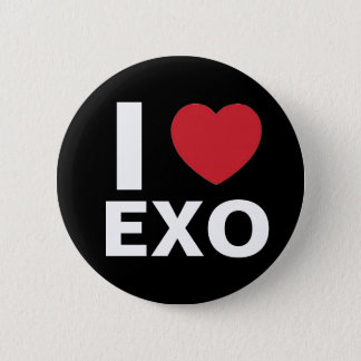 I Love Exo Button (black)