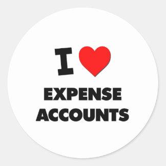I love Expense Accounts Classic Round Sticker