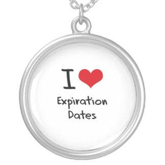 I love Expiration Dates Personalized Necklace