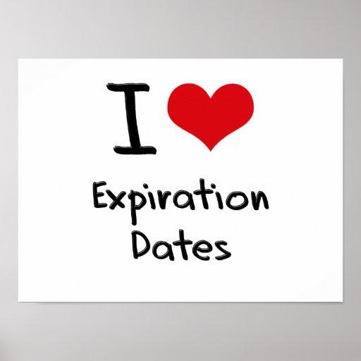 I love Expiration Dates Print