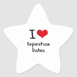I love Expiration Dates Star Stickers