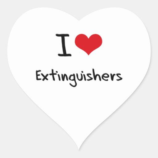 I love Extinguishers Heart Sticker