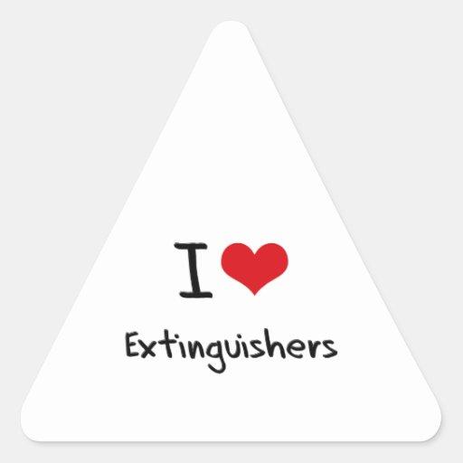 I love Extinguishers Sticker
