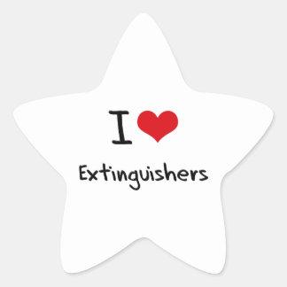 I love Extinguishers Star Stickers