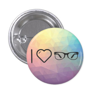 I Love Eyeglasses Functions 1 Inch Round Button
