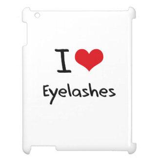 I love Eyelashes Case For The iPad 2 3 4