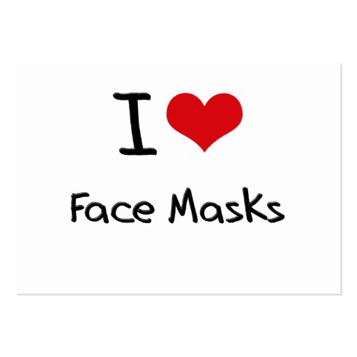 I Love Face Masks Business Card Template