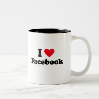 I love Facebook T-shirt Coffee Mug