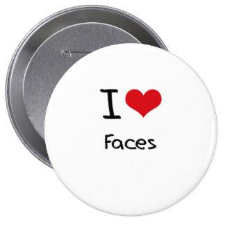 I Love Faces Button