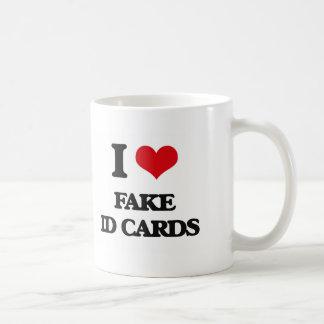 I love Fake Id Cards Basic White Mug