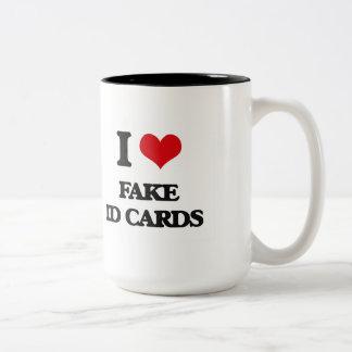 I love Fake Id Cards Two-Tone Mug