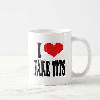 I Love Fake Tits Classic White Coffee Mug