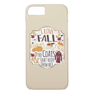 I Love Fall iPhone Case