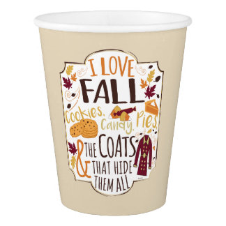 I Love Fall Paper Cups