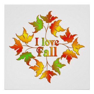 I Love Fall Poster