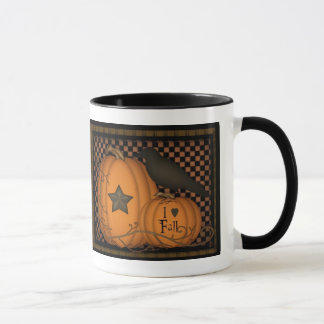I love Fall Pumpkin Crow Mug