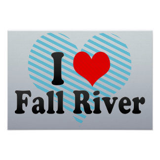 I Love Fall River, United States Poster