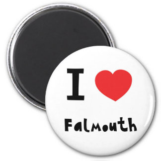 I love Falmouth 2 Inch Round Magnet