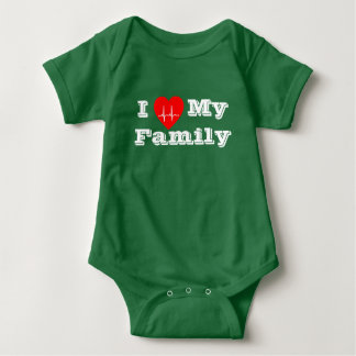 I love  Family Custom heart custom baby Shirt
