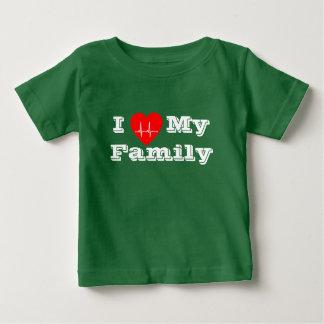 I love Family Custom heart custom baby Shirt green
