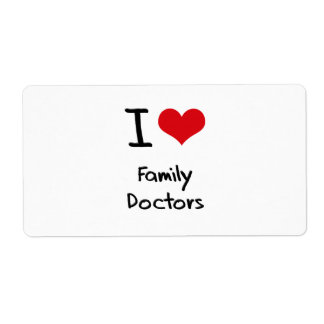 I Love Family Doctors Shipping Label