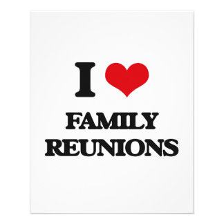 I love Family Reunions Full Color Flyer