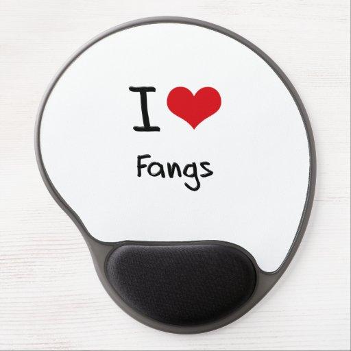 I Love Fangs Gel Mousepads