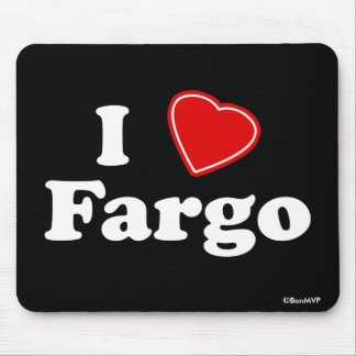 I Love Fargo Mouse Pad