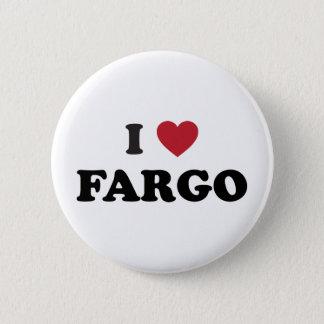 I Love Fargo North Dakota 2 Inch Round Button