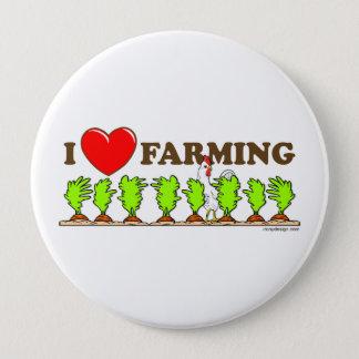 I Love Farming 4 Inch Round Button