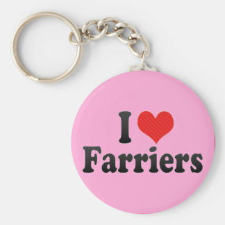 I Love Farriers Keychain