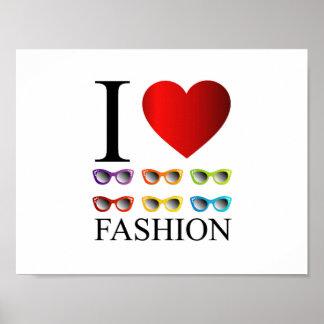 I love fashion poster