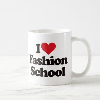 I Love Fashion School! Classic White Coffee Mug