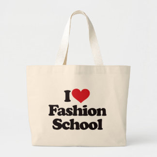 I Love Fashion School! Large Tote Bag