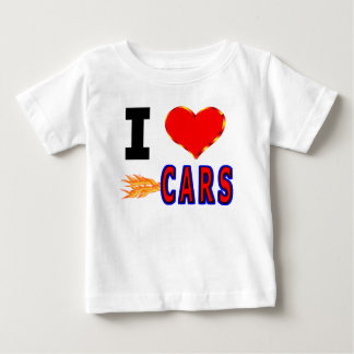 I Love Fast Cars Baby T-Shirt