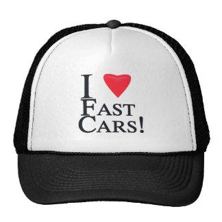I Love Fast Cars! Trucker Hat
