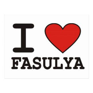 I Love Fasulya Postcard