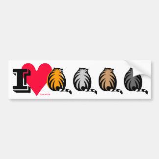 I Love Fat Cats! Bumper Sticker
