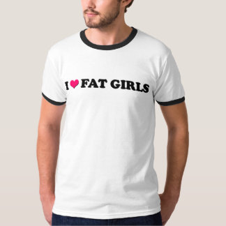 I Love Fat Girls - Ringer Tee XL
