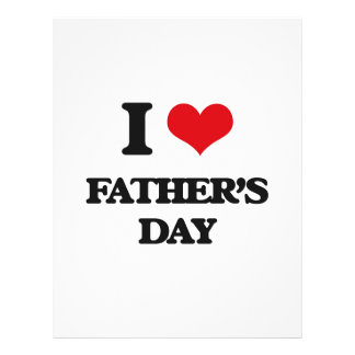 I love Father'S Day Flyer